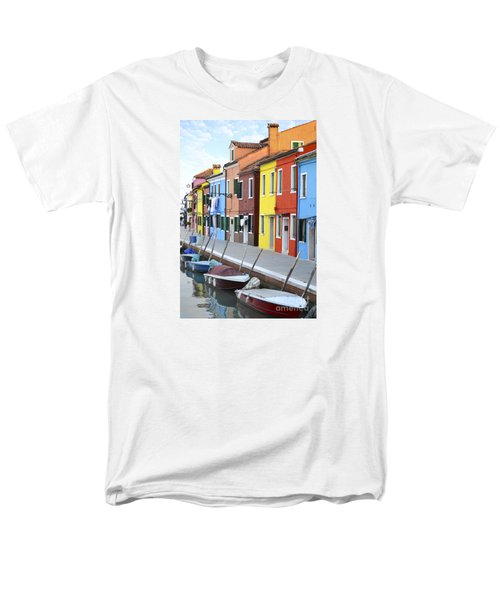 Men's T-Shirt  (Regular Fit) featuring the photograph Burano Italy 2 by Rebecca Margraf
