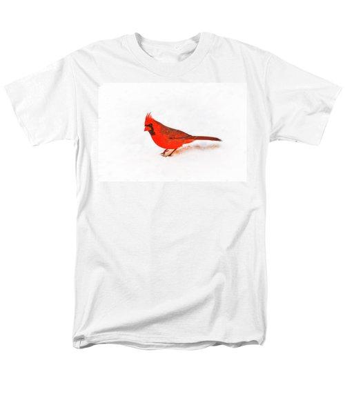 Men's T-Shirt  (Regular Fit) featuring the photograph Young Cardinal's Curiosity by Tamyra Ayles