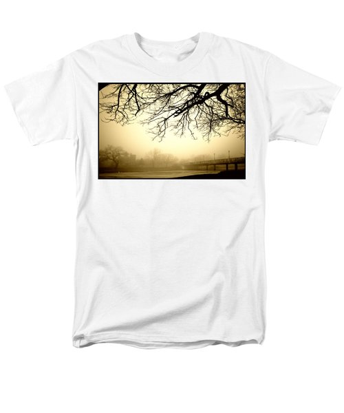 Men's T-Shirt  (Regular Fit) featuring the photograph Castle In The Fog by Brian Duram