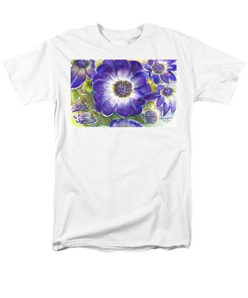 Cineraria Of South Africa  Men's T-Shirt  (Regular Fit) by Bernadette Krupa
