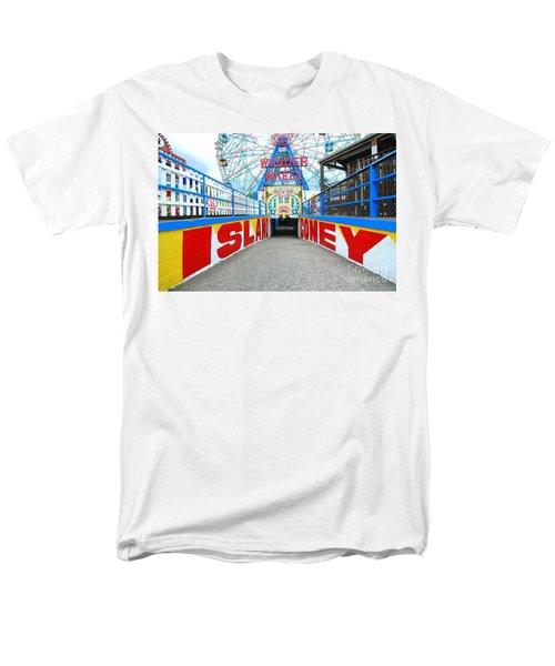 Coney Island Sign Men's T-Shirt  (Regular Fit) by Mark Gilman