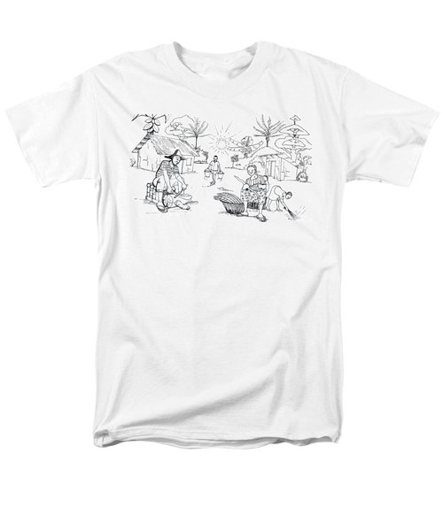 Daily Life In South And Center Cameroon 03 Men's T-Shirt  (Regular Fit) by Emmanuel Baliyanga