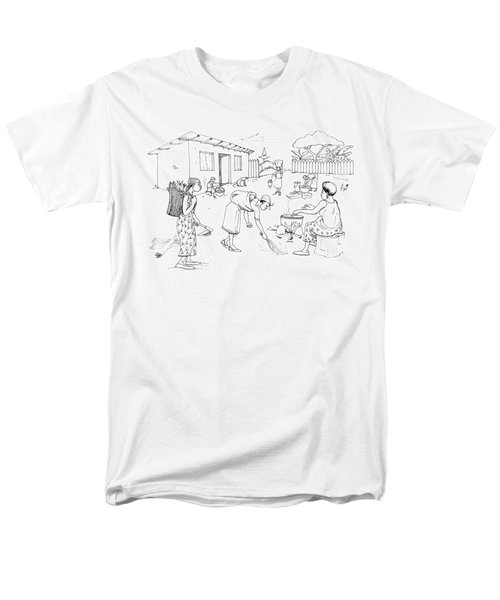Daily Life In South And Center Cameroon 10 Men's T-Shirt  (Regular Fit) by Emmanuel Baliyanga