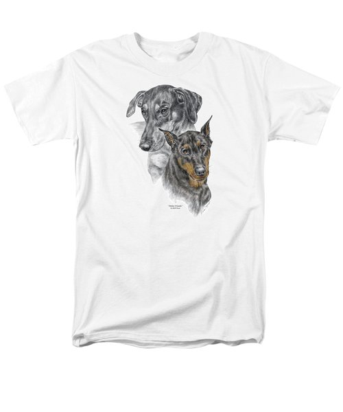 Dober-friends - Doberman Pinscher Portrait Color Tinted Men's T-Shirt  (Regular Fit) by Kelli Swan