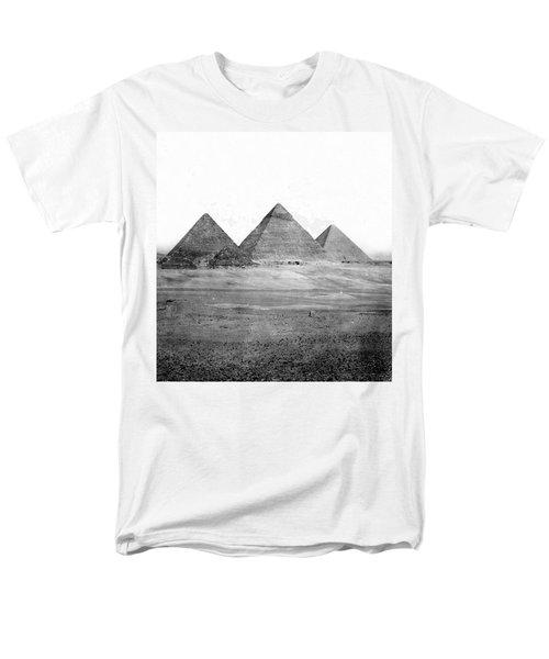 Egyptian Pyramids - C 1901 Men's T-Shirt  (Regular Fit) by International  Images