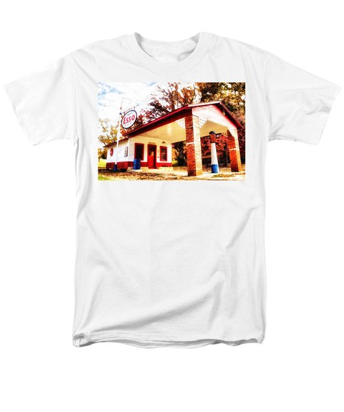 Men's T-Shirt  (Regular Fit) featuring the painting Esso Filling Station by Lynne Jenkins