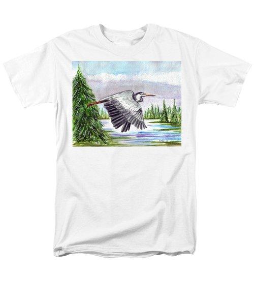 Men's T-Shirt  (Regular Fit) featuring the painting Flight Of Fantasy by Clara Sue Beym
