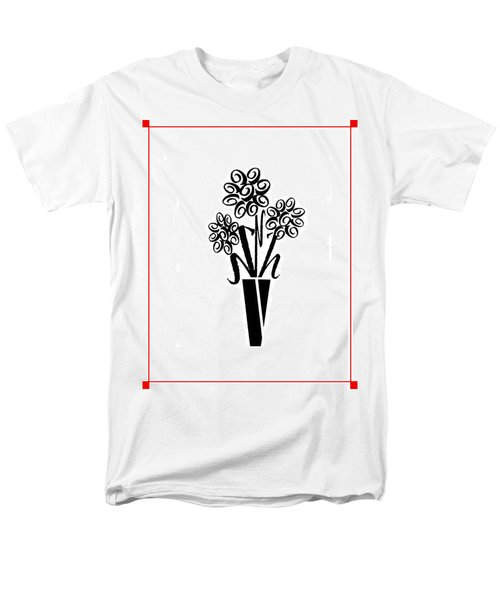 Men's T-Shirt  (Regular Fit) featuring the photograph Flowers In Type by Connie Fox