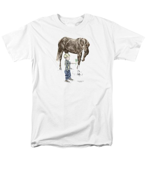 Getting To Know You - Boy And Horse Print Color Tinted Men's T-Shirt  (Regular Fit) by Kelli Swan