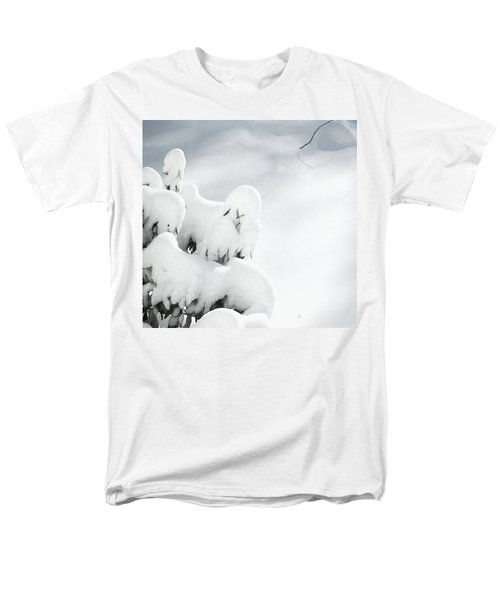 Men's T-Shirt  (Regular Fit) featuring the photograph Ghostly Snow Covered Bush by Pamela Hyde Wilson