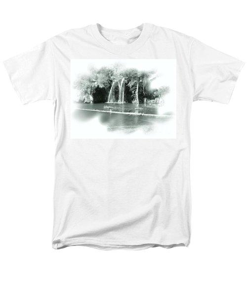 Hanging Lake Men's T-Shirt  (Regular Fit) by Ellen Heaverlo