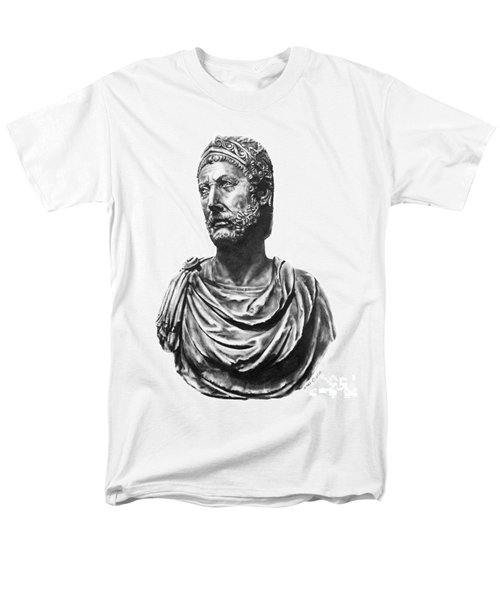Men's T-Shirt  (Regular Fit) featuring the drawing Hannibal by Marianne NANA Betts