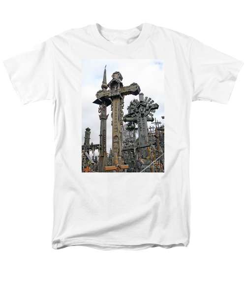 Hill Of Crosses 09. Lithuania Men's T-Shirt  (Regular Fit) by Ausra Huntington nee Paulauskaite