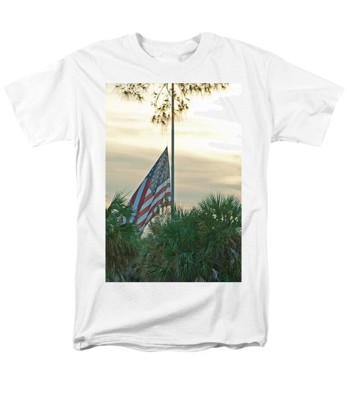 Honoring A Hero Men's T-Shirt  (Regular Fit) by John Black