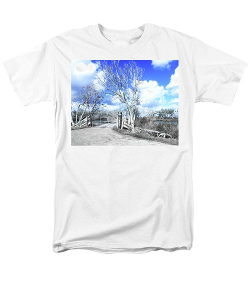 Men's T-Shirt  (Regular Fit) featuring the photograph Hwy 82 Coastal Louisiana by Lizi Beard-Ward