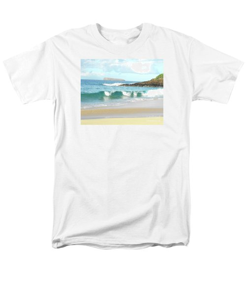 Maui Hawaii Beach Men's T-Shirt  (Regular Fit) by Rebecca Margraf
