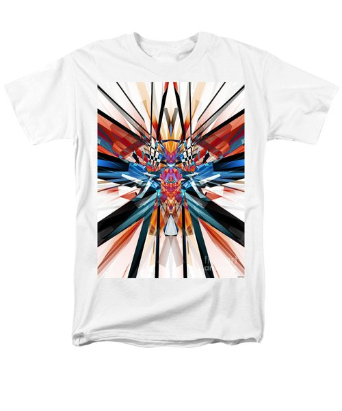 Men's T-Shirt  (Regular Fit) featuring the digital art Mirror Image Abstract by Phil Perkins