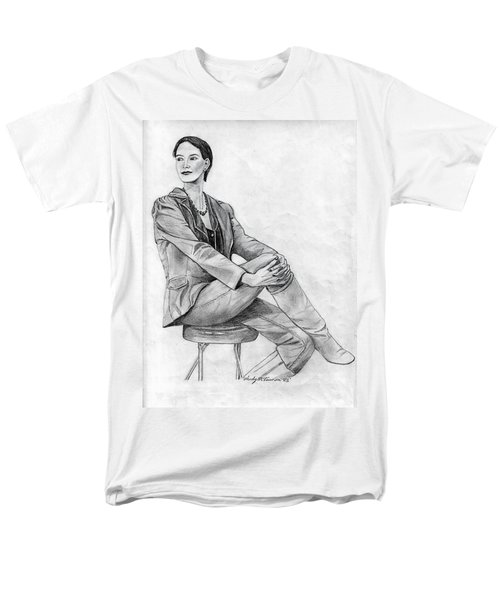 Men's T-Shirt  (Regular Fit) featuring the drawing Model by Wendy McKennon