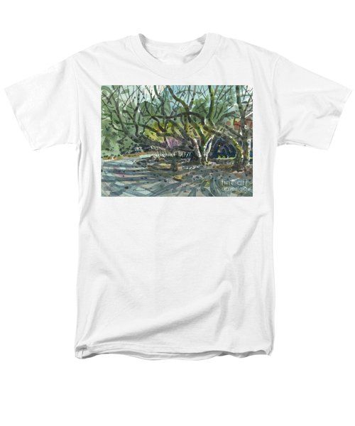 Men's T-Shirt  (Regular Fit) featuring the painting Monk Trees Two by Donald Maier