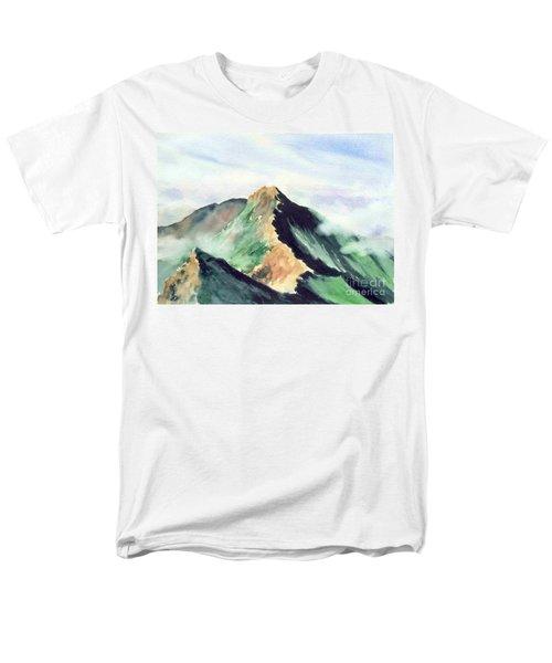 Men's T-Shirt  (Regular Fit) featuring the painting Mountain  1 by Yoshiko Mishina