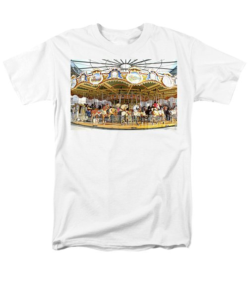 Men's T-Shirt  (Regular Fit) featuring the photograph New York Carousel by Alice Gipson
