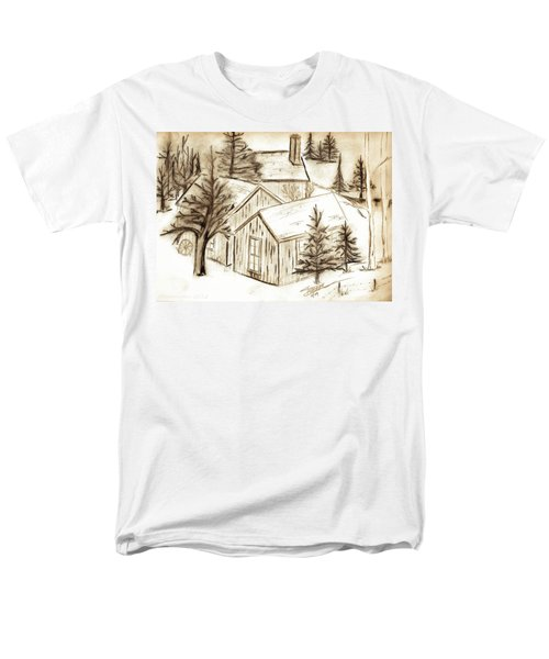 Men's T-Shirt  (Regular Fit) featuring the drawing Old Colorado by Shannon Harrington