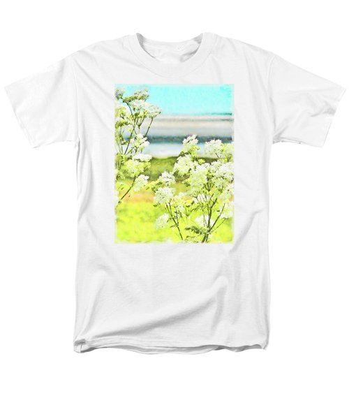 Men's T-Shirt  (Regular Fit) featuring the digital art On The Mudflats Of Pegwell Bay by Steve Taylor