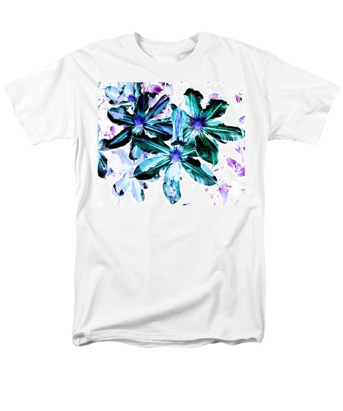Organic Techno Flowers Men's T-Shirt  (Regular Fit) by Lisa Brandel