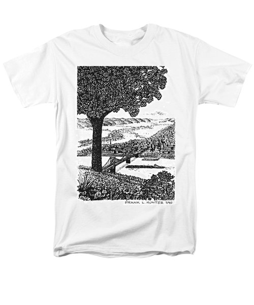 Portsmouth Ohio From A Kentucky Hill Men's T-Shirt  (Regular Fit) by Frank Hunter