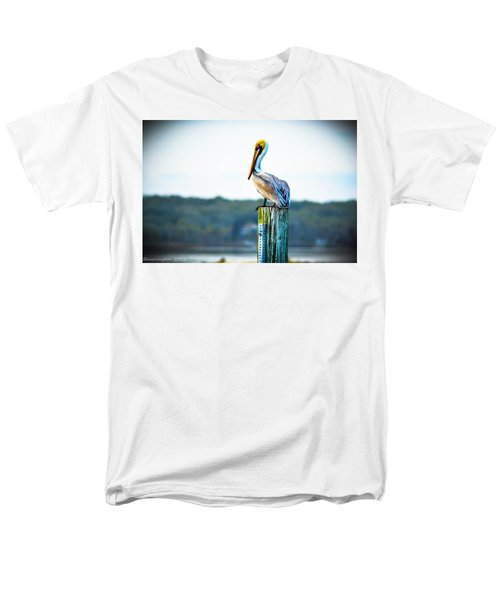Men's T-Shirt  (Regular Fit) featuring the photograph Posing Pelican by Shannon Harrington