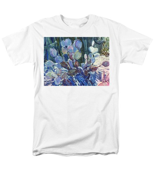 Men's T-Shirt  (Regular Fit) featuring the painting Purple Opuntia by Donald Maier