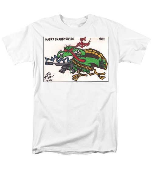 Men's T-Shirt  (Regular Fit) featuring the drawing Rambo Turkey by Jeremiah Colley