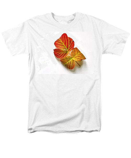 Men's T-Shirt  (Regular Fit) featuring the photograph Raspberry Leaves In Autumn by Sean Griffin