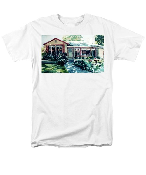 Men's T-Shirt  (Regular Fit) featuring the painting Redwood City House #2 by Donald Maier