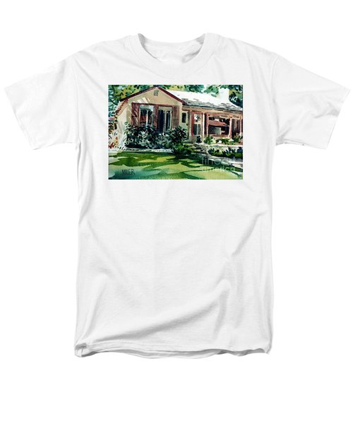 Men's T-Shirt  (Regular Fit) featuring the painting Redwood City House #3 by Donald Maier