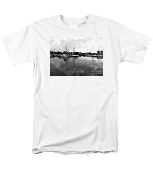 Sailboats At Bluffers Marina Toronto Men's T-Shirt  (Regular Fit) by Susan  Dimitrakopoulos
