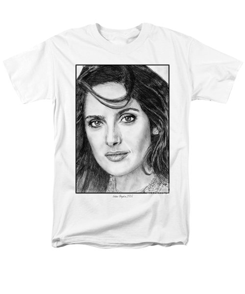 Men's T-Shirt  (Regular Fit) featuring the drawing Salma Hayek In 2005 by J McCombie