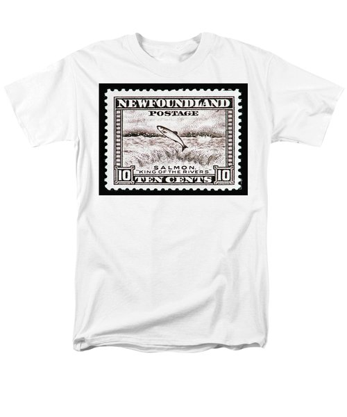 Men's T-Shirt  (Regular Fit) featuring the photograph Salmon King Of The Rivers by Andy Prendy