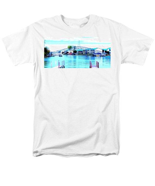 Sandy Beach Bridge Men's T-Shirt  (Regular Fit) by Lisa Brandel