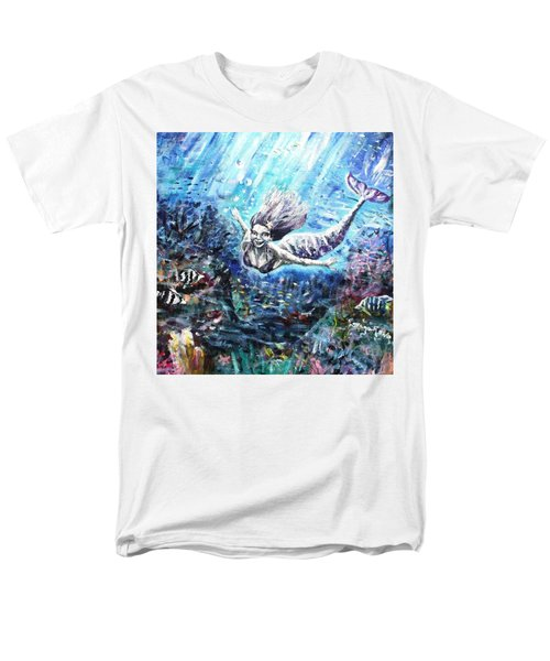 Men's T-Shirt  (Regular Fit) featuring the painting Sea Surrender by Shana Rowe Jackson