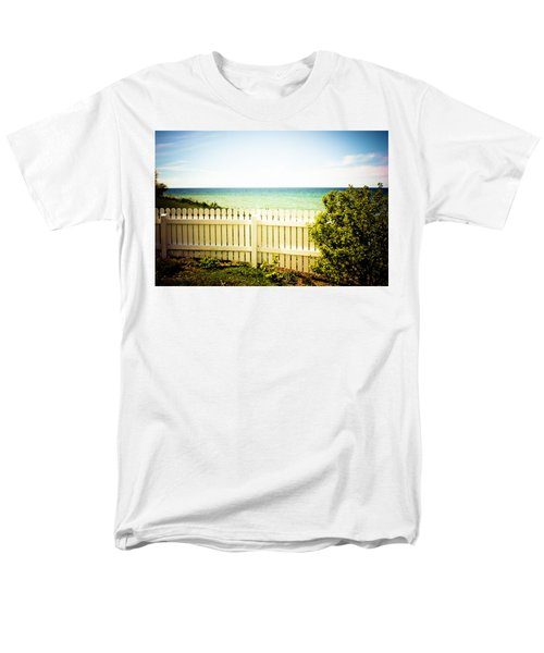 Men's T-Shirt  (Regular Fit) featuring the photograph Seaside Retreat by Sara Frank