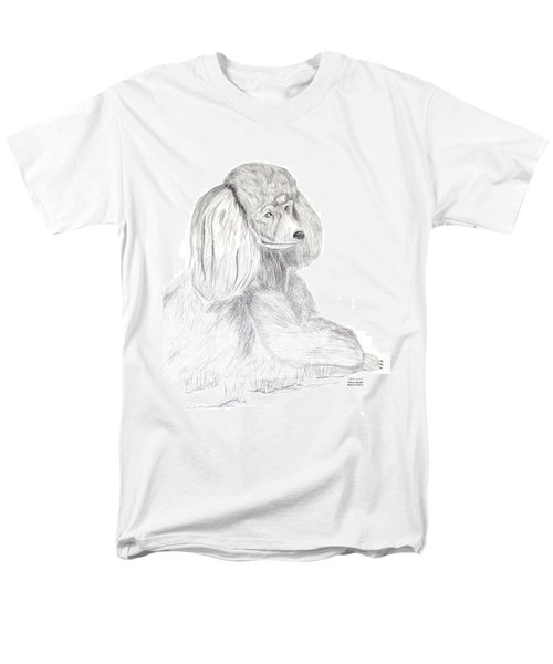 Silver Poodle Men's T-Shirt  (Regular Fit) by Maria Urso