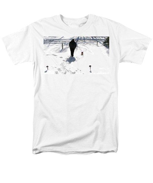 Men's T-Shirt  (Regular Fit) featuring the photograph Snow Buddies by Pamela Hyde Wilson