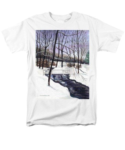 Snowy Shawnee Stream Men's T-Shirt  (Regular Fit)