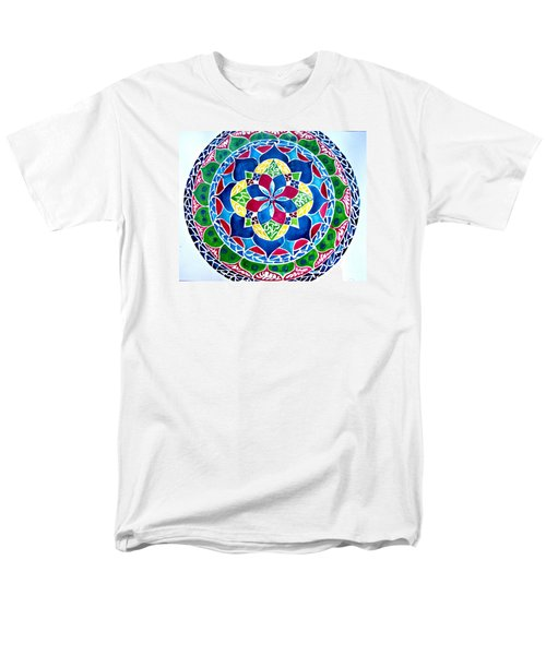 Spring Mandala Men's T-Shirt  (Regular Fit) by Sandra Lira