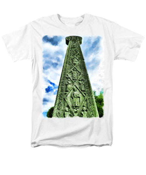Men's T-Shirt  (Regular Fit) featuring the photograph St Augustines Cross Close Up by Steve Taylor