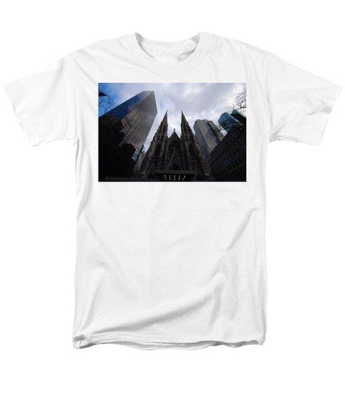 Men's T-Shirt  (Regular Fit) featuring the photograph Steeples by John Schneider