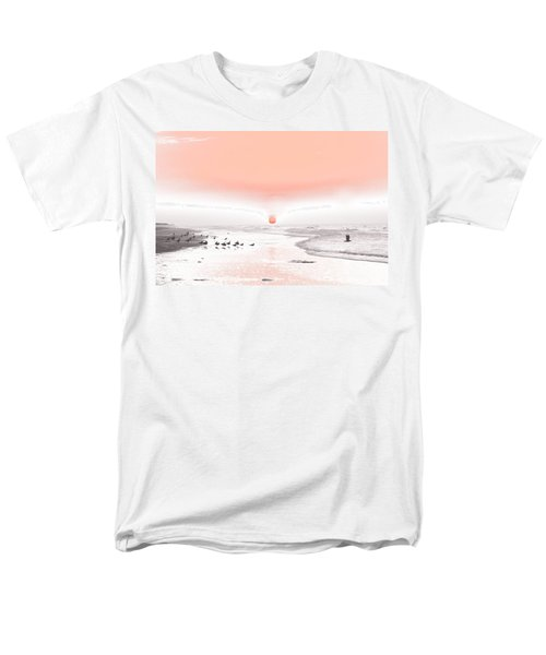 Men's T-Shirt  (Regular Fit) featuring the photograph Pastel Sunrise Beach by Tom Wurl