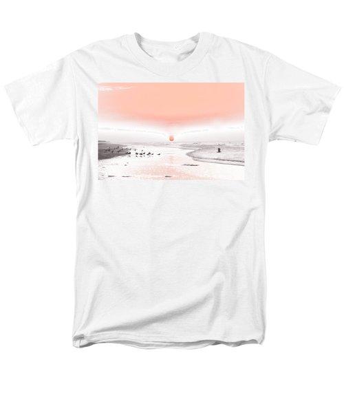 Pastel Sunrise Beach Men's T-Shirt  (Regular Fit) by Tom Wurl