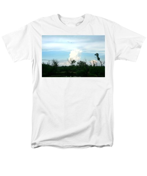 Men's T-Shirt  (Regular Fit) featuring the photograph The Back Forty by Lon Casler Bixby